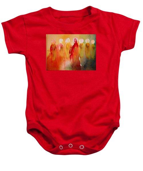 Jesus With His Apostles Baby Onesie