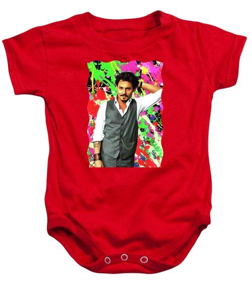 Johnny Depp - Celebrity Art Baby Onesie