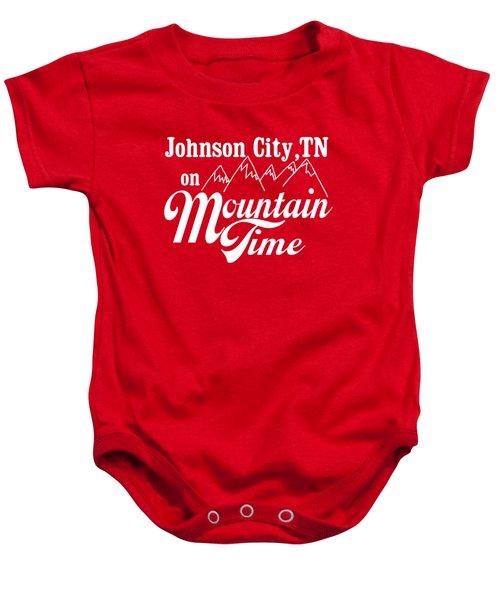 Johnson City Tn On Mountain Time Baby Onesie