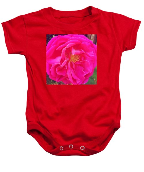 Just A Rose...#floral #flowers #pink Baby Onesie