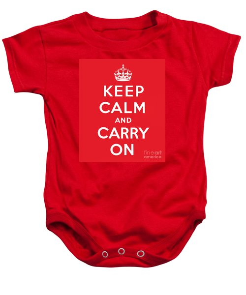 Keep Calm And Carry On Baby Onesie