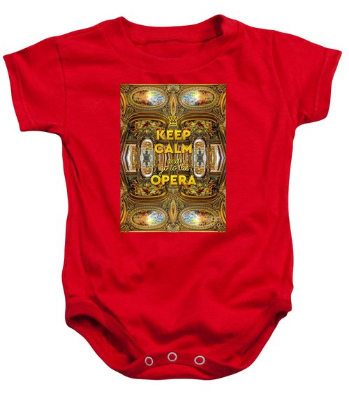 Keep Calm And Go To The Opera Garnier Grand Foyer Paris Baby Onesie