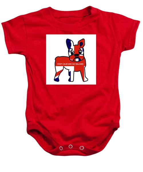 Keep Calm And Go Walkies Baby Onesie