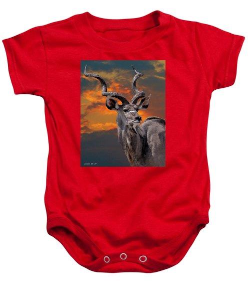 Kudu At Sunset Baby Onesie
