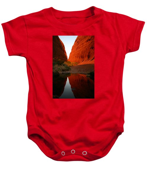 Late Afternoon Light And Reflections At Kata Tjuta In The Northern Territory Baby Onesie