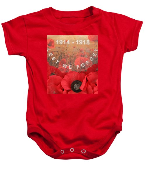 Lest We Forget - 1914-1918 Baby Onesie by Travel Pics