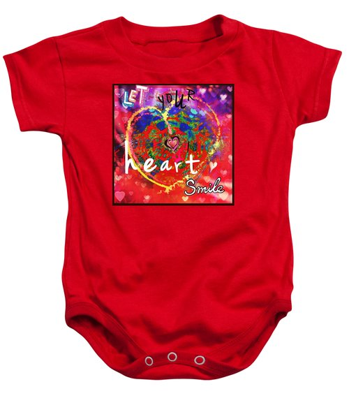 Let Your Heart Smile Baby Onesie