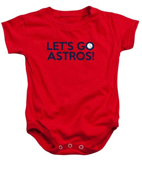 Let's Go Astros Baby Onesie by Florian Rodarte