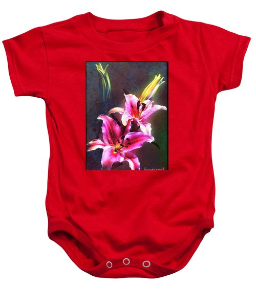 Lilies At Night Baby Onesie