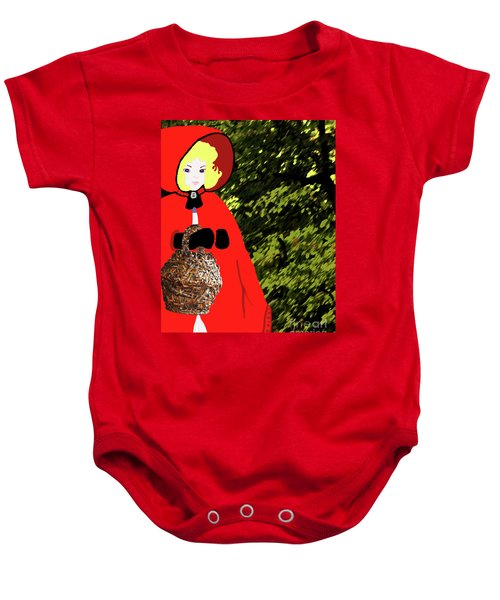 Little Red Riding Hood In The Forest Baby Onesie