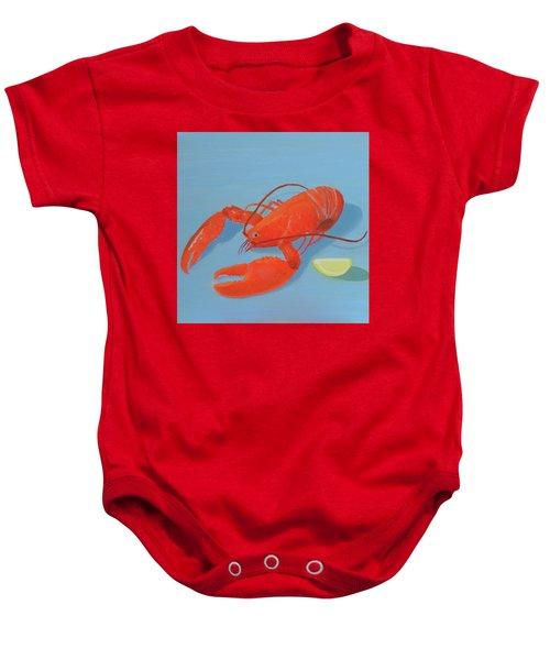 Lobster And Lemon Baby Onesie