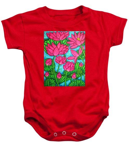 Lotus Bliss Baby Onesie
