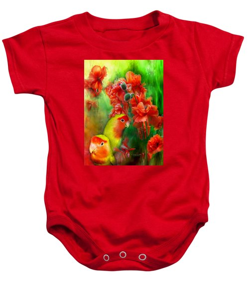 Love Among The Poppies Baby Onesie