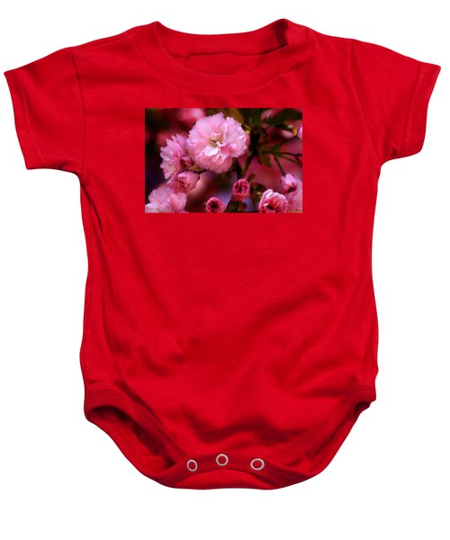 Lovely Spring Pink Cherry Blossoms Baby Onesie
