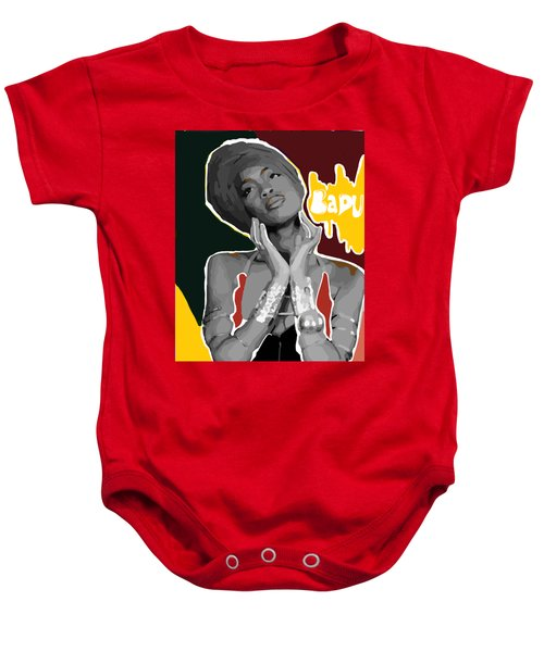 Low Down Loretta Brown  Baby Onesie by Latoya Hester