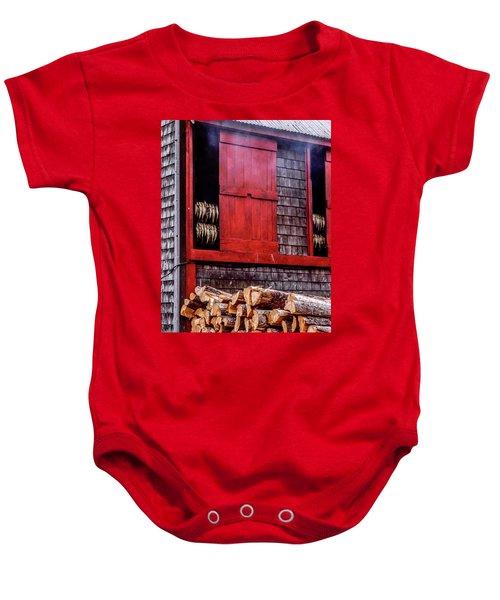 Lubec Smokehouse Baby Onesie