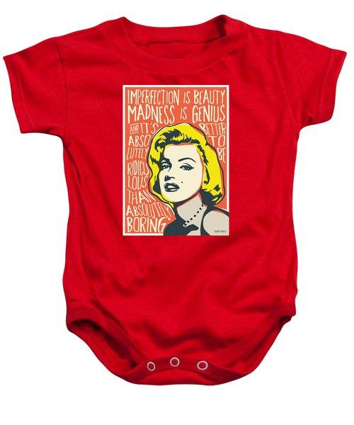 Marilyn Monroe Pop Art Quote Baby Onesie