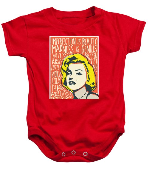 Marilyn Monroe Pop Art Quote Baby Onesie
