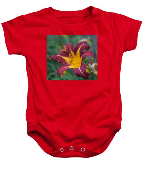 Maroon And Gold Baby Onesie