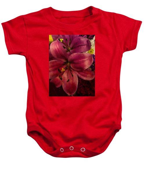 Marsala Lily Baby Onesie