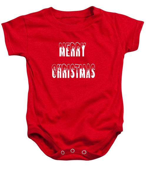 Merry Christmas Tee Baby Onesie