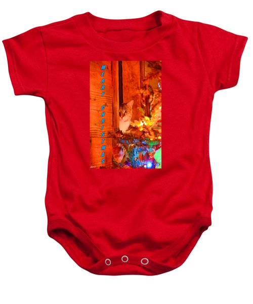 Merry Christmas Waiting For Santa Baby Onesie