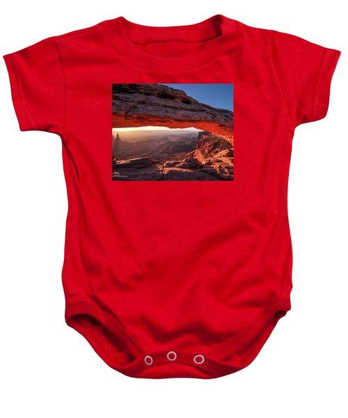 Mesa Arch At Sunrise 2, Canyonlands National Park, Utah Baby Onesie