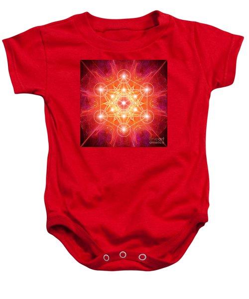 Metatron's Cube Light Baby Onesie