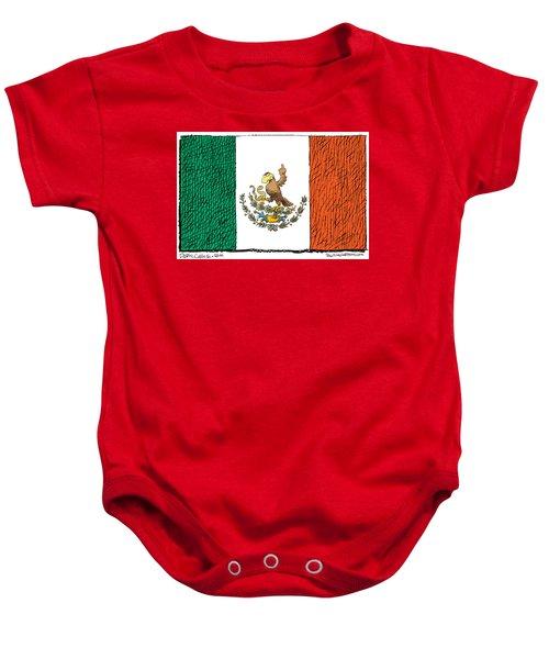Mexico Flips Bird Baby Onesie