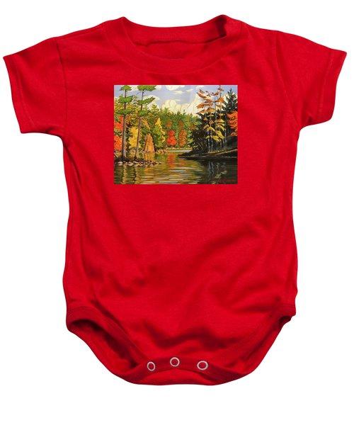 Mink Lake Narrows Baby Onesie