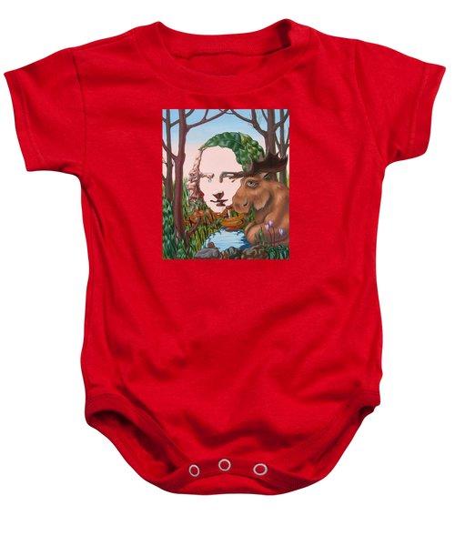 Mona Lisa . Earth Baby Onesie