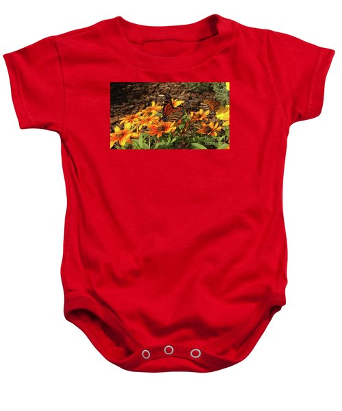 Monarch Butterflies Baby Onesie