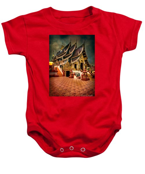 Monthian Temple Chiang Mai  Baby Onesie