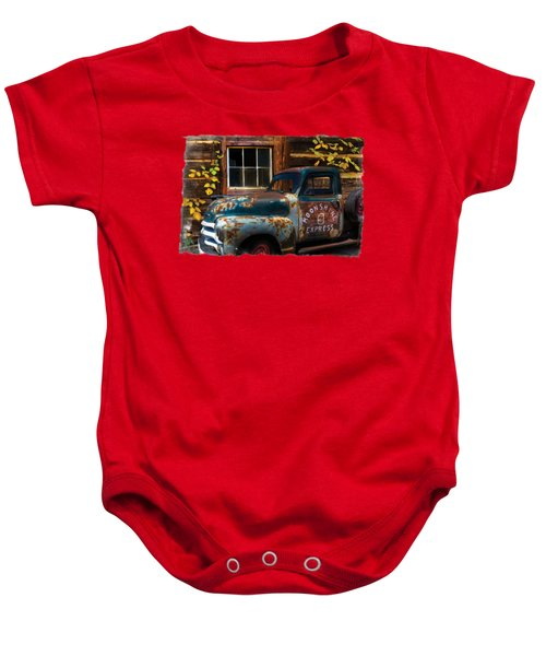 Moonshine Express Bordered Baby Onesie