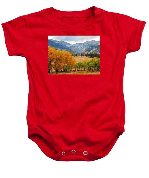 Moraine Park In Rocky Mountain National Park Baby Onesie