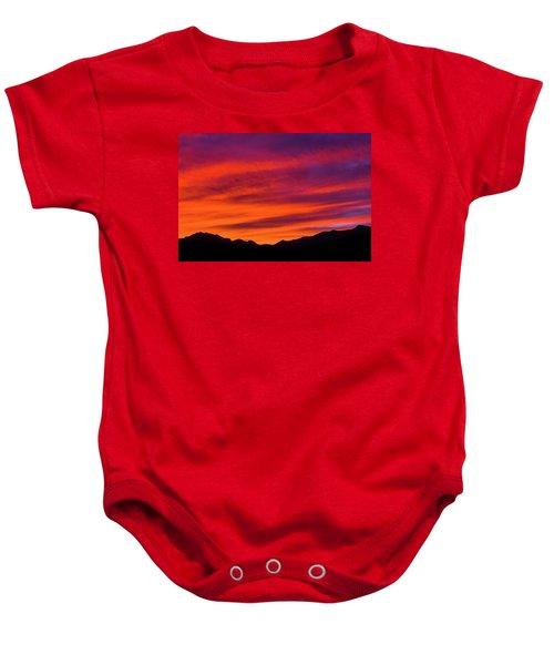 Mount Franklin Purple Sunset Baby Onesie