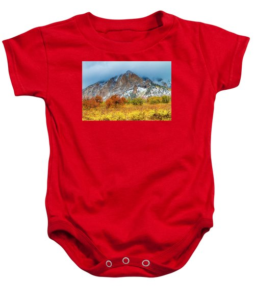 Mountain Autumn Color Baby Onesie