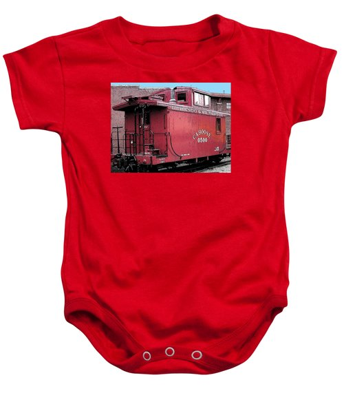 My Little Red Caboose Baby Onesie