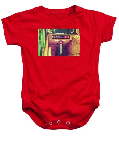 New York Subway Station Baby Onesie