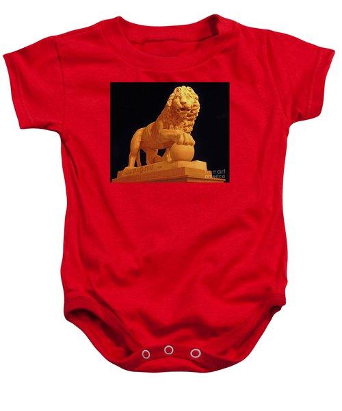 Night Of The Lion Baby Onesie