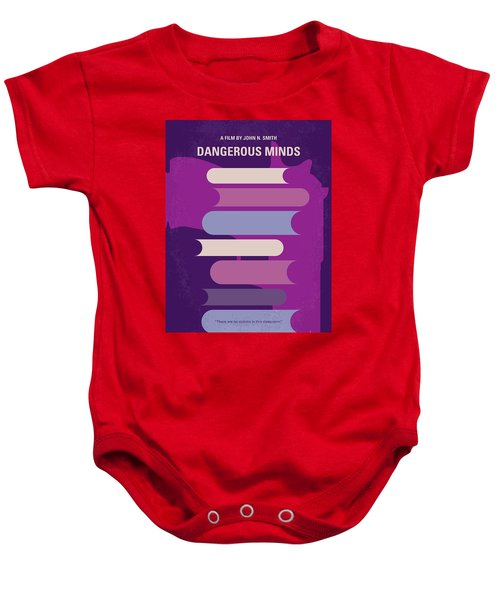 No655 My Dangerous Minds Minimal Movie Poster Baby Onesie