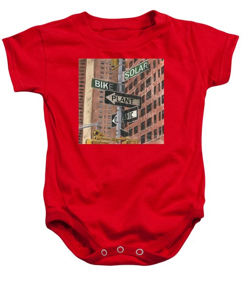 Nyc Broadway 2 Baby Onesie