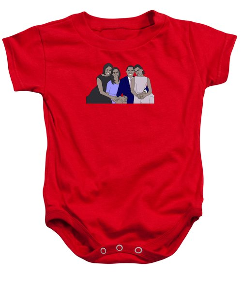 Obama Family Baby Onesie by Priscilla Wolfe