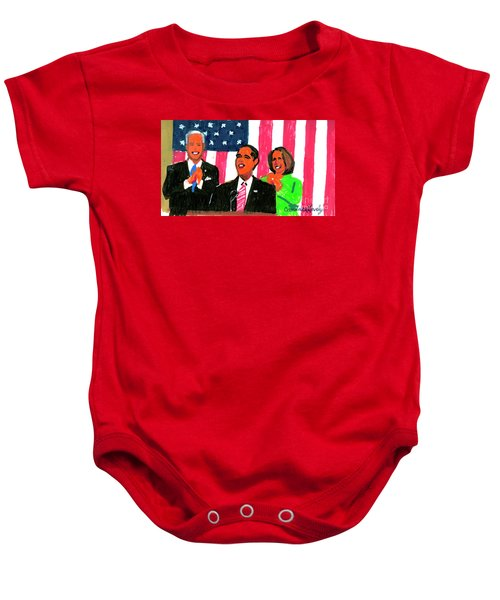 Obama's State Of The Union '10 Baby Onesie by Candace Lovely