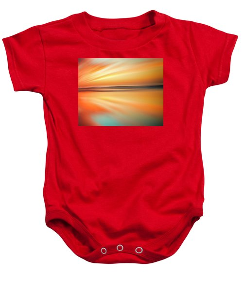 Ocean Beach Sunset Abstract Baby Onesie