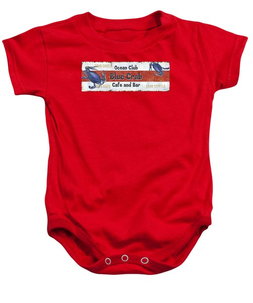 Ocean Club Cafe Baby Onesie by Debbie DeWitt