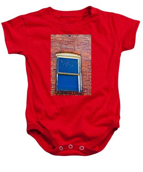 Old Brick Building Baby Onesie