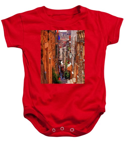 Old Town Dubrovniks Inner Passages Baby Onesie