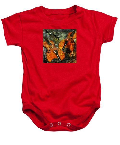 Only Music Heals A Broken Heart Baby Onesie