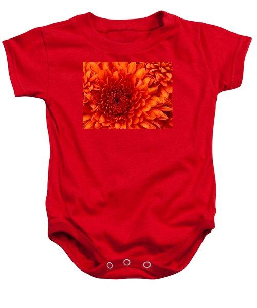 Orange Bloom Baby Onesie